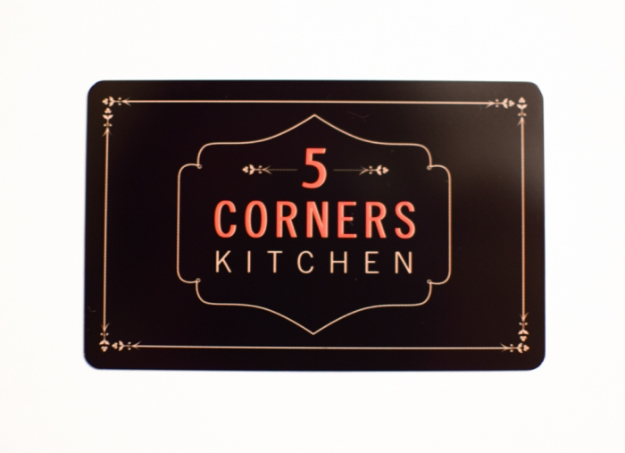 5 Corners Kitchen Gift Card